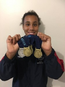 Chelsea with her medals