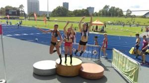 Grace Adams gold U13 80m hurdles