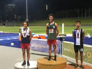 Jarrod Falconer silver U15 boys triple jump