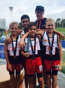 Junior boys relay team